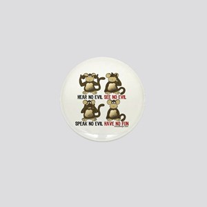 No Evil Fun Monkeys Mini Button