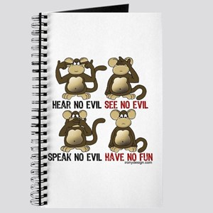 No Evil Fun Monkeys Journal