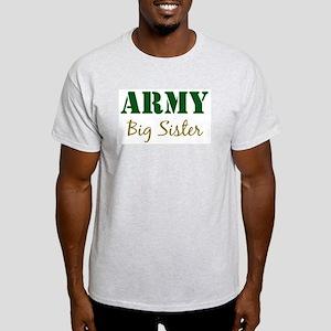 Army Big Sister Ash Grey T-Shirt