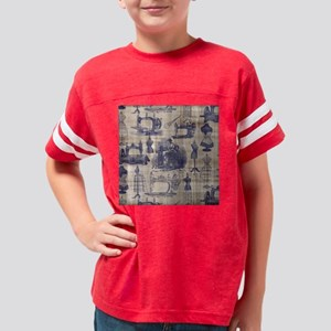 Vintage Sewing Toile Youth Football Shirt