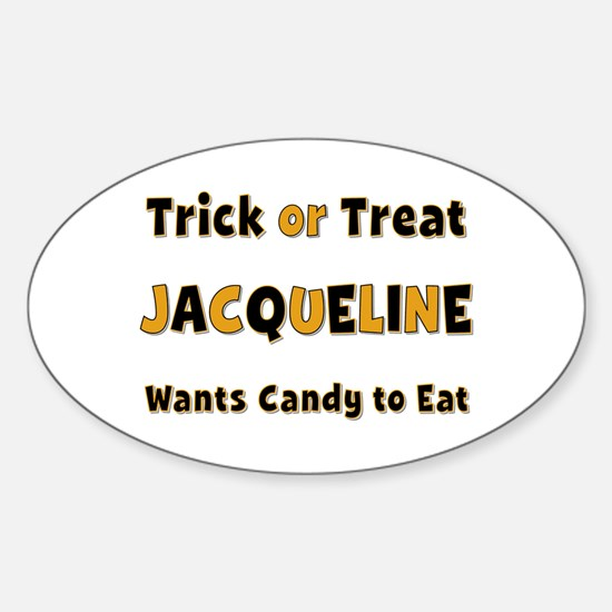 Jacqueline Trick or Treat Oval Decal