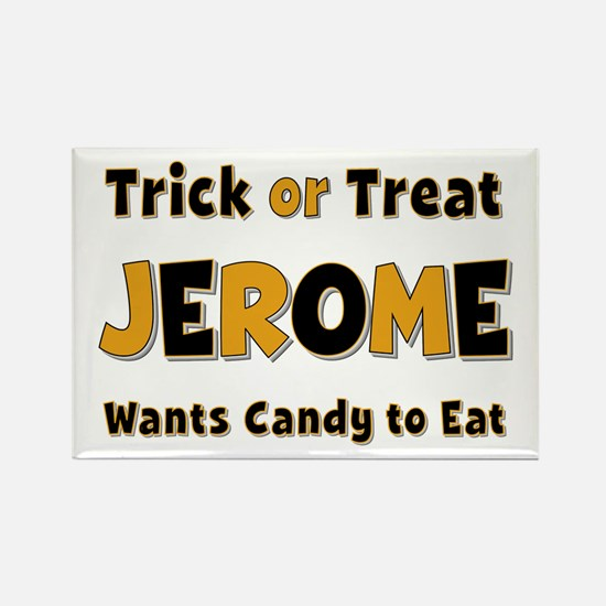 Jerome Trick or Treat Rectangle Magnet