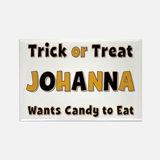 Johanna Trick or Treat Rectangle Magnet