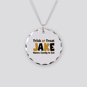 Jake Trick or Treat Necklace Circle Charm