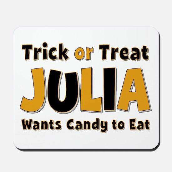 Julia Trick or Treat Mousepad