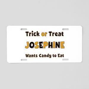 Josephine Trick or Treat Aluminum License Plate