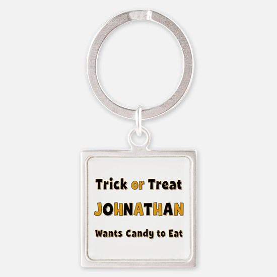 Johnathan Trick or Treat Square Keychain