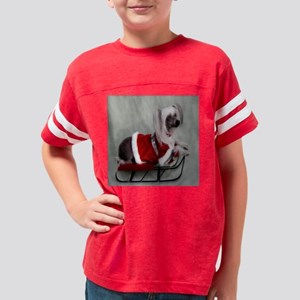 Chinese Crested hairless Youth Football Shirt