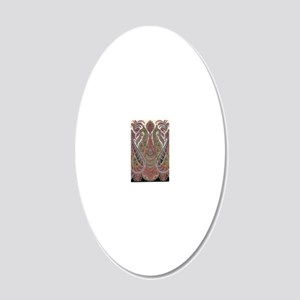 elegant peacock paisley vint 20x12 Oval Wall Decal