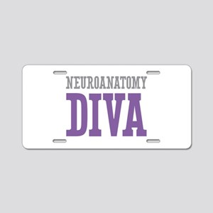 Neuroanatomy DIVA Aluminum License Plate