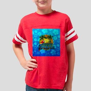 Hawaii Sunset Blue Honu Youth Football Shirt