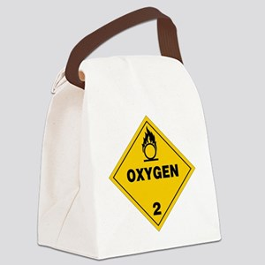 Yellow Oxygen Warning Sign Canvas Lunch Bag