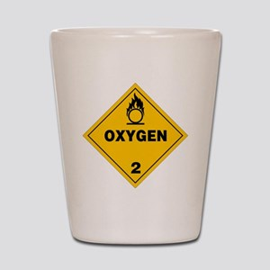 Yellow Oxygen Warning Sign Shot Glass