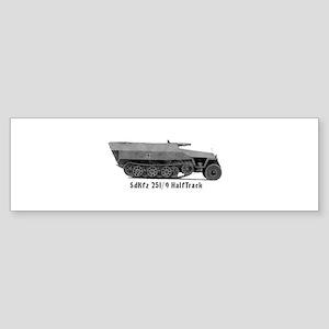 Halftrack Bumper Sticker