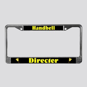 Handbell Director Black License Plate Frame