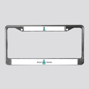 Ovarian Cancer Survivor License Plate Frame