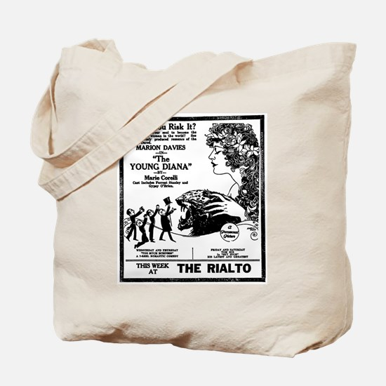Marion Davies The Young Diana Tote Bag