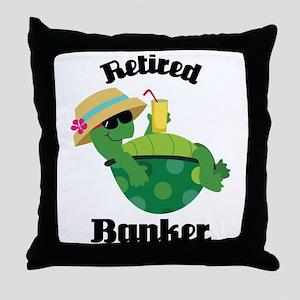 Retired Banker Gift Throw Pillow