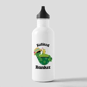 Retired Banker Gift Stainless Water Bottle 1.0L
