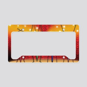funny bugs on display License Plate Holder