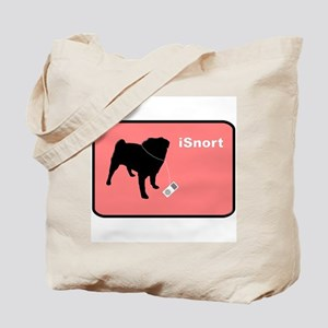iSnort Pink Tote Bag