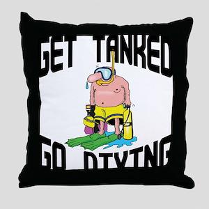 Go Diving Throw Pillow