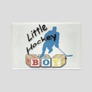 Little Hockey Boy Rectangle Magnet