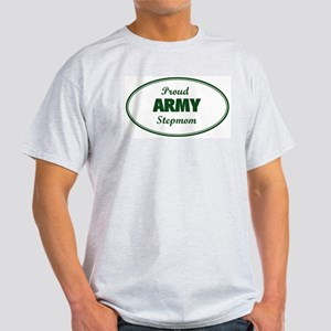 Proud Army Stepmom Ash Grey T-Shirt