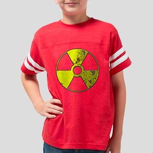 rusty_radiation_blk Youth Football Shirt