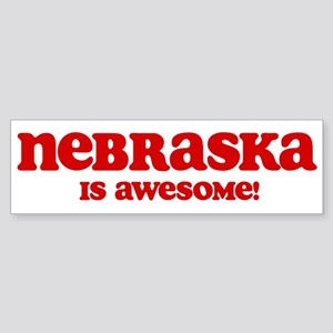 Nebraska is Awesome Bumper Sticker