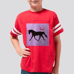 Horse Love and Hearts Youth Football Shirt