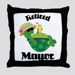 Retired Mayor Gift Throw Pillow