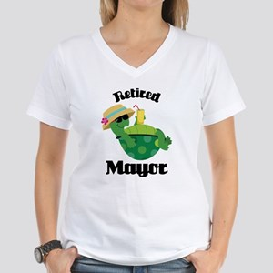 Retired Mayor Gift Women's V-Neck T-Shirt