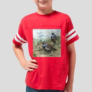 Quail on a Summer Day Youth Football Shirt