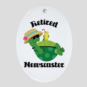 Retired Newscaster Gift Ornament (Oval)