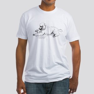 Playful Poodle Fitted T-Shirt
