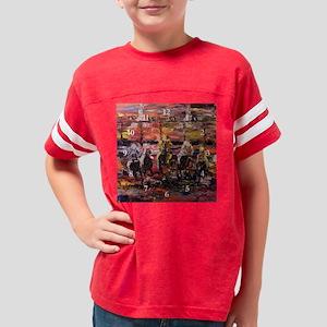 Modern Horse Racing Wall Cloc Youth Football Shirt