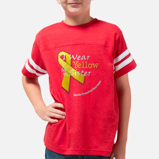 trans_i_wear_yellow_for_my_si Youth Football Shirt