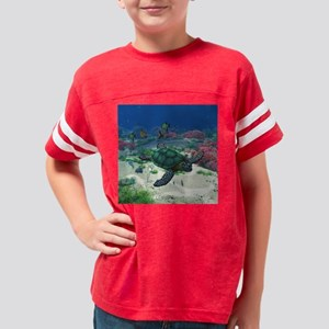 Sea Turtle Youth Football Shirt