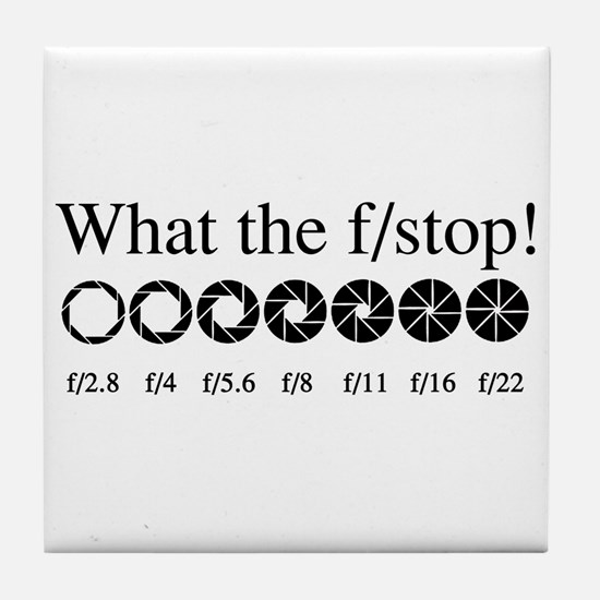 What the f/stop? Tile Coaster