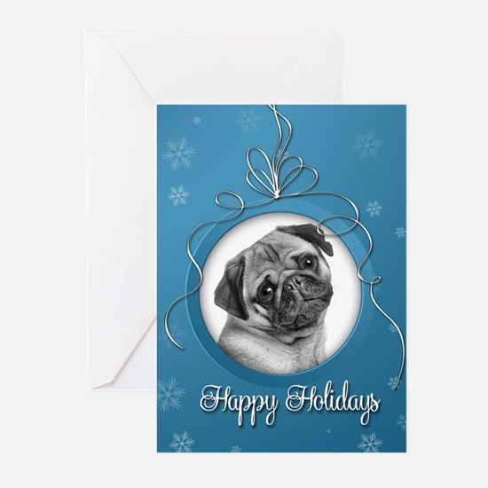 Elegant Pug Holiday Cards (Pk of 10)