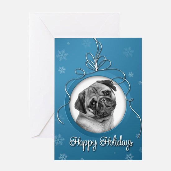 Elegant Pug Holiday Card