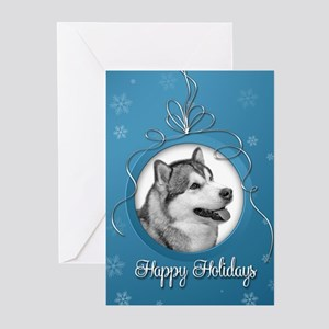 Elegant Malamute Holiday Cards (Pk of 20)