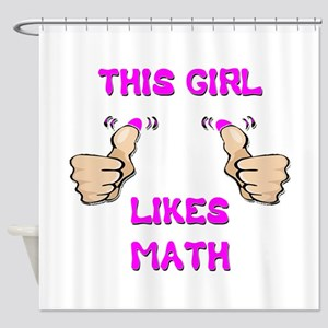 This Girl Likes Math Shower Curtain