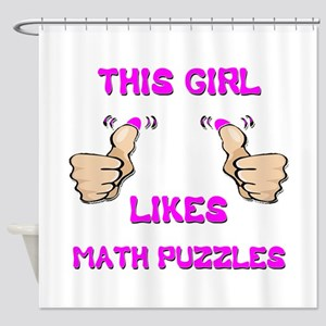 This Girl Likes Math Puzzles Shower Curtain