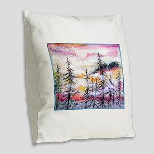 Landscape, colorful art! Burlap Throw Pillow