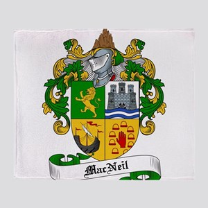 MacNeil Family Crest / Coat of Arms Throw Blanket