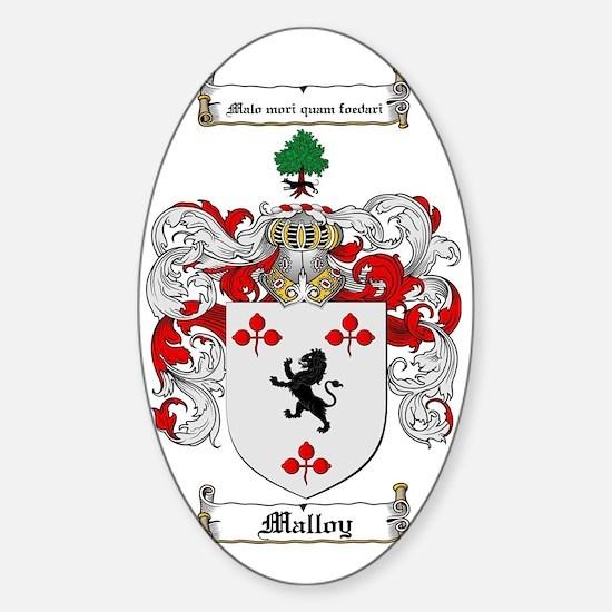 Malloy Family Crest / Malloy Coat o Sticker (Oval)