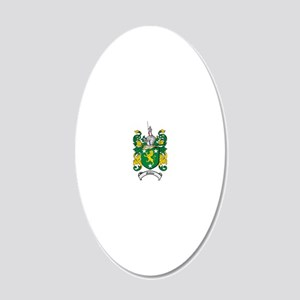 Malone Family Crest / Coat o 20x12 Oval Wall Decal