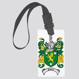 Malone Family Crest / Coat of Ar Large Luggage Tag